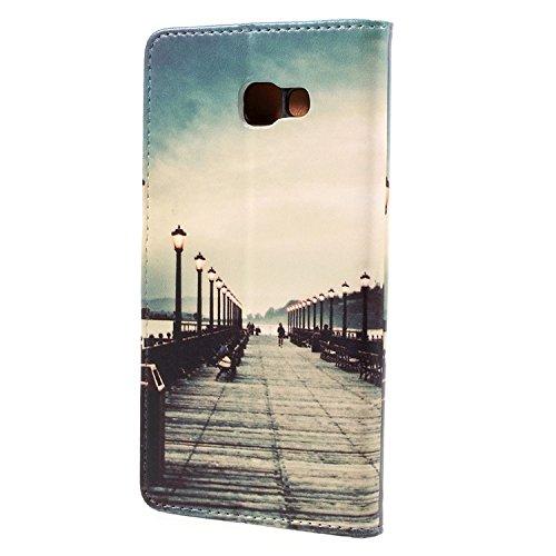 Vandot para Samsung Galaxy A7 2017 PU Funda Serie Bolsa Modelo Colorido con Bonito Hermoso Patrón de Impresión Dibujo Monedero de la Cartera de la Cubierta Móvil del Bolso del Teléfono Móvil del Prote HSD 03