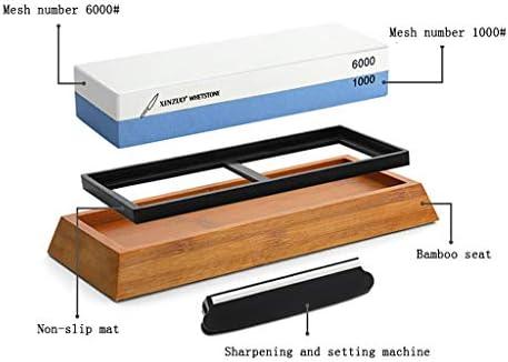 SGMYMX砥石 セットには、プロのキッチンのシェフ6000分の1000の更なる粒子径、シャープの簡単な方法のために、砥石砥石を両面 ウェット砥石