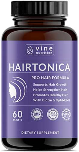 Hairtonica - Hair Vitamins for Faster Hair Growth - Best Hair Growth Supplement & Hair Vitamin - Support Hair Loss & Thinning with Hair Growth Pills - Hair Supplement with Biotin 5000mcg, MSM, Keratin