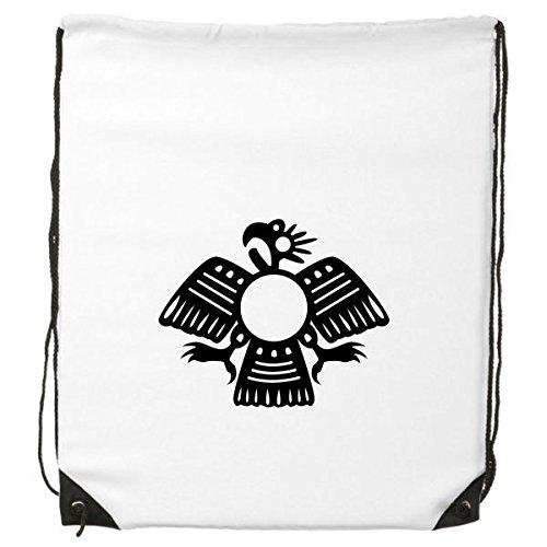 古代エジプトファラオ抽象装飾パターンSacrifice Eagle ArtシルエットDrawstringバックパックFine Linesショッピングクリエイティブ環境ポリエステルハンドバッグショルダーバッグ B06X9PJRCK