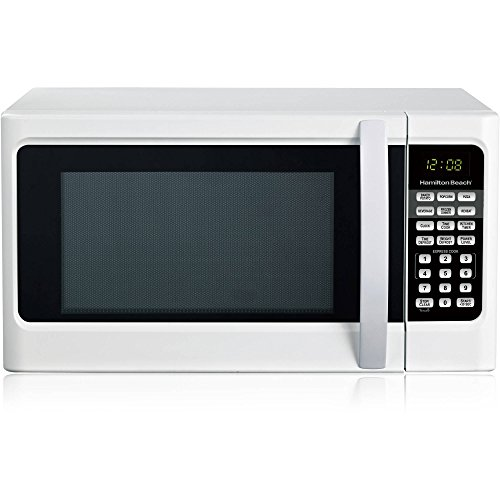 Hamilton Beach 1.1 cu ft Auto Digital Display Countertop Microwave Oven, White