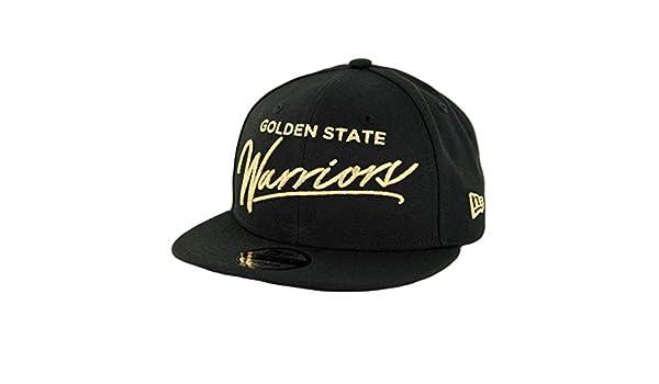 premium selection da2b9 255d4 Amazon.com   New Era 950 Golden State Warriors Scripted Turn Snapback Hat ( Black) Men s Cap   Sports   Outdoors