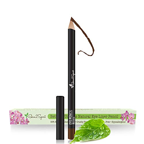 (Better'n Ur Eyes Natural Eyeliner Pencil: BROWN | Hypoallergenic & Great for Sensitive Eyes | Natural | Vegan | Certified Cruelty Free | Paraben Free | Gluten Free | Smooth Application | Long Lasting)