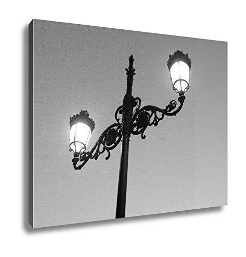 Blue Giclee Floor Lamp - Ashley Canvas Nice City Madrid Capital Of Spain, Kitchen Bedroom Living Room Art, Black/White 24x30, AG5601481
