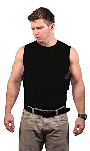 Ridge Packin Tee Shirt Holster Black Crew Neck Holster Included ... (3X-Large Shirt, Right Handed Shooter Small - Crew Ridge Neck