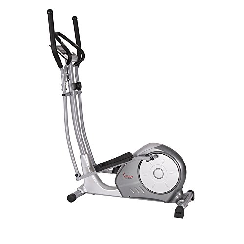 Magnetic Elliptical Trainer with Adjustable Resistance, Hand Pulse Sensors by Sunny Health & Fitness – SF-E3608 (Magnetic Sunny Elliptical)