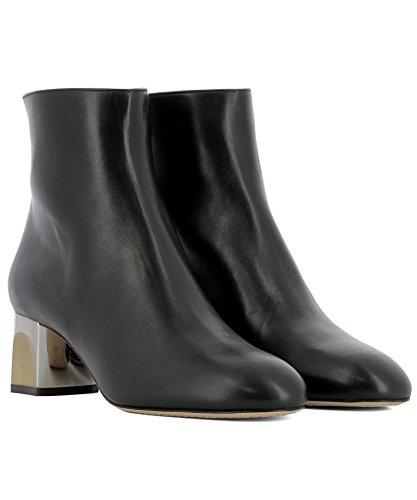 Alexander Cuir Noir Bottines McQueen 534124WHR601000 Femme YwY76q4