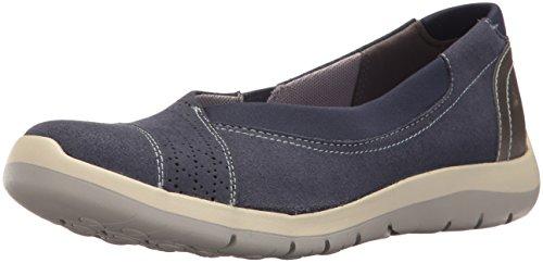 Aravon Women's Wembly Envelope Fashion Sneaker, Blue, 11 B US