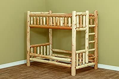 White Cedar Rustic Full over Full Bunk Bed *6 stain options*