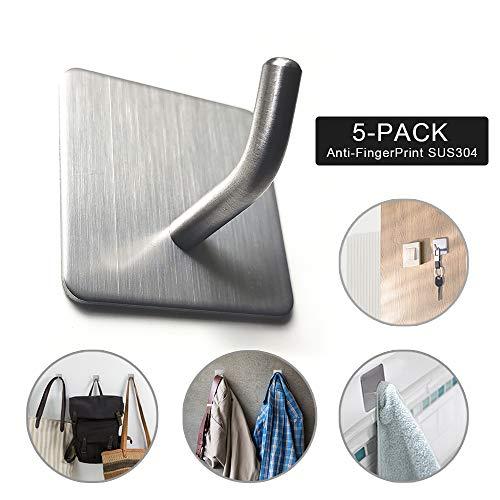Amazon.com: Mosilveron Self-Adhesive Towel Hooks, Wall Hooks ...