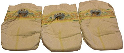 UNISEX Reborn Baby Doll THREE PIECE Cookie Monster Pamper Set Boy Girl Diapers (Diaper Cookie)