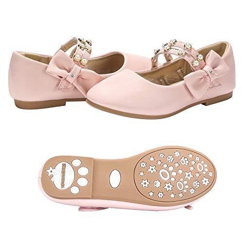 PANDANINJIA Toddler/Little Kids Cheryl Princess Uniform School Ballet Flower Mary Jane Girls Flats Dress Shoes -
