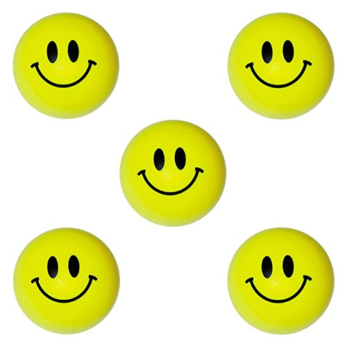 Smiley Balls Plastic Toys for 1 inch Vending Machines - Fun Party Favors and Pinata Fillers - No Capsules Required, Bulk 100 pcs by Entervending