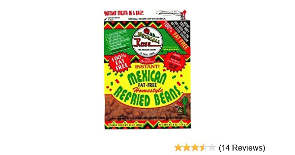 Amazon.com: Mexicali Rose Instant Fat-Free Homestyle Refried Beans 7oz (Pack of 6)