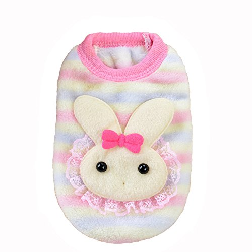 Picture of MD New Cute Baby Pet Clothes Teacup Dogs Clothing Puppy Winter Warm Thick Sweaters (XXXS, Pink)