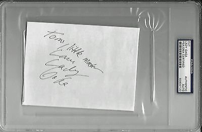 LADY GAGA SIGNED 4″x6″ CARD LITTLE MONSTERS ARTPOP PSA/DNA ENCAPSULATED 83800120