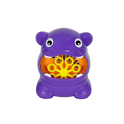 JPJ(TM)1Pcs Hot Fashion Hippo Shape Battery Operated Automatic Bubble Machine Maker For Kids Toy ()