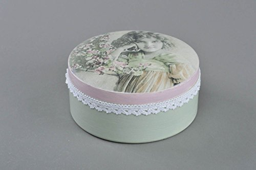 Handmade Designer decoupage Wooden Box of Round Shape Youth by MadeHeart | Buy handmade goods (Image #4)