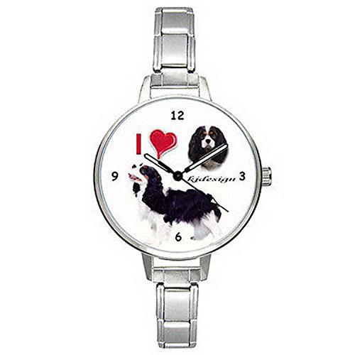 Spaniel Italian Charm Watch - BMTC807 I Love Cavalier King Charles Spaniel Dog Mens Ladies Italian Charm Watch
