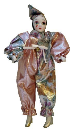 (Porcelain Dolls 7 Inches Tall, Pierrot in Glimmering OutfitSilver High)