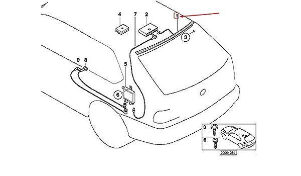 GTV INVESTMENTS 3 Touring E46 Antena de ventana trasera ...