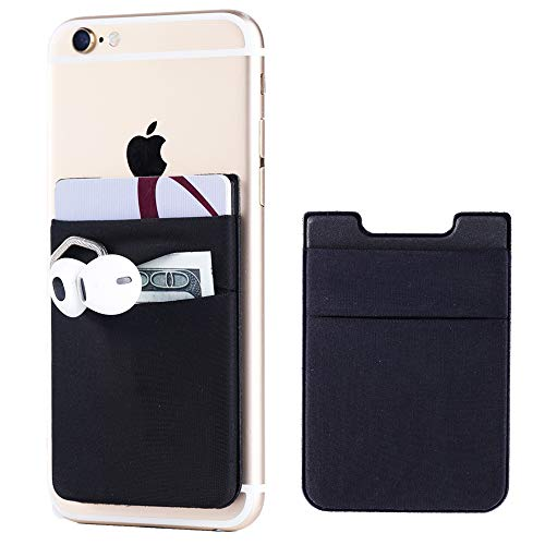ccf43618c6a1 2Pack Adhesive Phone Pocket,Cell Phone Stick On Card Wallet,Credit Cards/ID  Card Holder(Double Secure) with 3M Sticker for Back of iPhone,Android and  ...