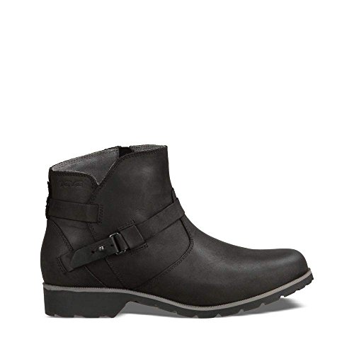 Teva Women's W Delavina Ankle Boot, Black, 8 M US