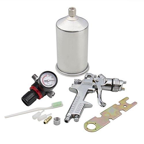 Bang4buck 2.5mm HVLP Gravity Feed Spray Gun Kit with Regulator Auto Paint Primer Metal - Flake Can Metal Spray