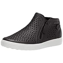 ECCO Women's Soft 7 Bootie Sneaker, Black Laser Cut, 38 M EU (7-7.5 US)