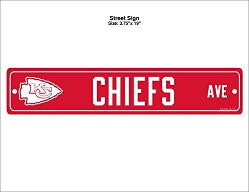 WinCraft NFL Kansas City Chiefs Street Sign