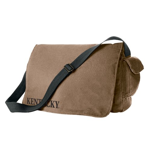 University of Kentucky Tan Canvas Messenger Bag by Zokee-University of Kentucky