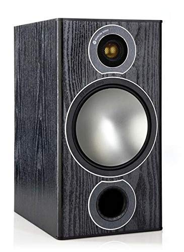 (Monitor Audio Bronze 2 Bookshelf Speakers - Black Oak)