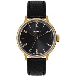Tsovet Men's Gold & Black 38MM Watch, Black, One Size