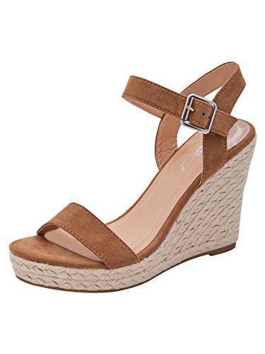 ONLY - Damen schuhe 15131332 amelia heeled sandal 39 cuoio