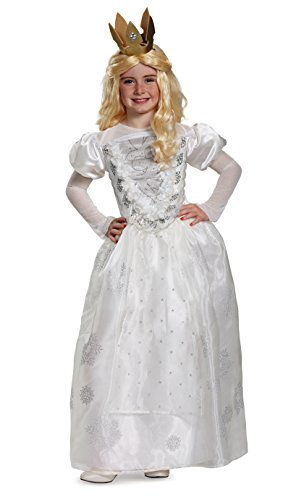 White Queen Deluxe Alice Through The Looking Glass Movie Disney Costume, (White Queen Halloween Costume)