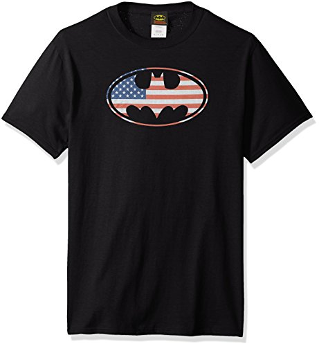 DC Comics Men's Batman American Flag Oval T-Shirt at Gotham City Store