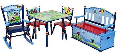 Wildkin Gettin Around Table /& 2 Chair Set LOD60002