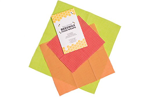 Order Eco Friendly Resin (Hand-made Beeswax Food Wrap – Sustainable Washable & Reusable eco-friendly Cotton Storage Sandwich Wraps Pack of Three (1 Large Green, 1 Medium Orange and 1 Small Red) by Dual Accord)