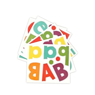 Renewing Minds Woodland Tails Burlap Easy Letters, 4 Inches, Multi-Colored, 216 Pieces: Toys & Games