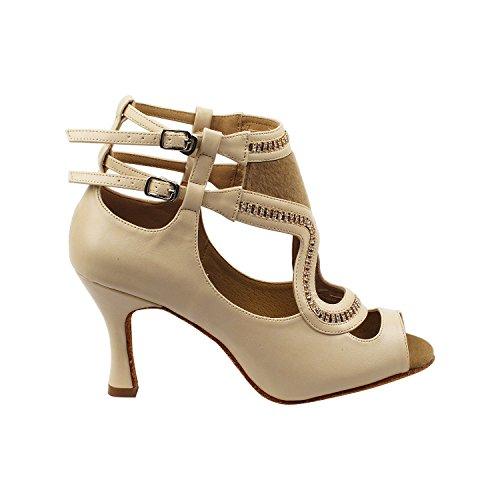 """50 Shades Of Tan Dance Kleid Schuhe Collection-II, Komfort Abendkleid Hochzeit Pumps: Ballroom Schuhe für Latin, Tango, Salsa, Swing, Kunst von Party Party (2,5 """", 3"""" & 3,5 """"Heels) Sera7018 Beige"""