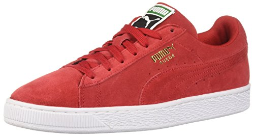 PUMA Men's Suede Classic + Sneaker, High Risk Redwhite, 8 M US