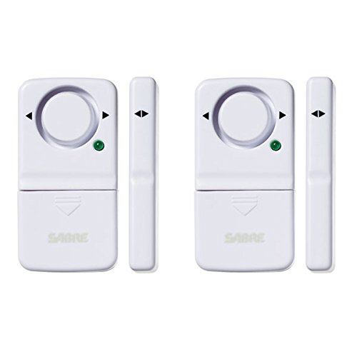 SABRE Wireless Home Security Door Window Burglar Alarm with LOUD 120 dB Siren - DIY EASY to Install