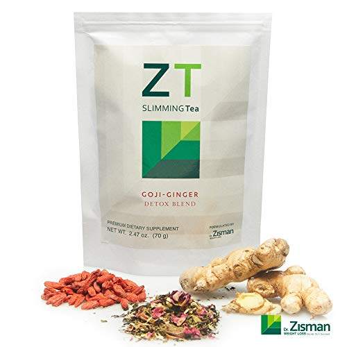 Dr. Zisman ZT Slimming Tea | Goji-Ginger Detox Blend | Weight Loss Tea | Organic Herbal Tea for Cleanse | Accelerate Your Metabolism in a Natural Way | Lose Weight with a Healthier Digestion (Best Organic Cleanse To Lose Weight)