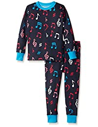 Little Blue House By Hatley Girls' Pajama Set-Colorful Music Notes