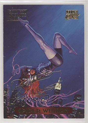 Spider-Woman (Trading Card) 1994 Fleer Marvel Masterpieces - [Base] - Gold Foil Signature Series -