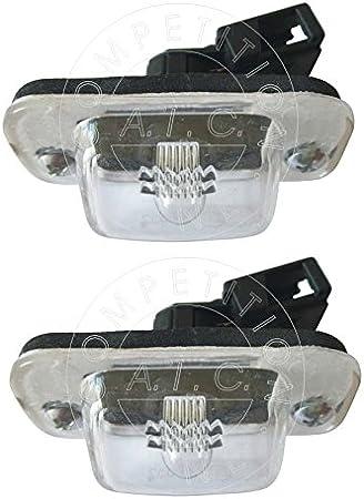 Aic Quality Set 2 X Kennzeichenbeleuchtung Nummernschildbeleuchtung Kennzeichenleuchte Leuchte Komplett Mit Schrauben Glühlampe Und Dichtung Passend Für 1h1 1e7 Auto