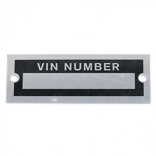Vintage Parts 315273 VIN Number Plate (Search For Car Parts By Vin Number)