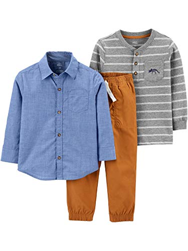 Simple Joys by Carter's - 3-Piece Playwear Set, Clothing-Sets Bambino 1