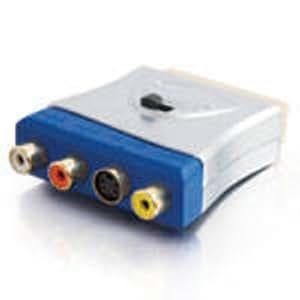 C2G 80435 SCART S-Video, Composite Video / L/R Stereo Plata adaptador de cable - Adaptador para cable (SCART, S-Video, Composite Video / L/R Stereo, Macho/hembra, Plata, ABS sintéticos, 120 g)