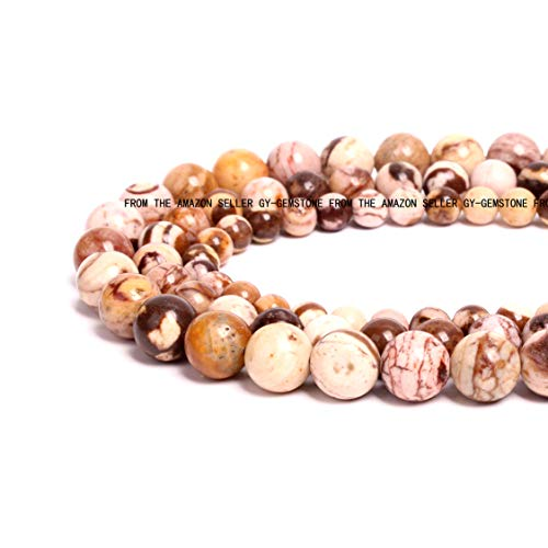 (100% Natural Stone Round Gemstone Loose Beads Top Quality Semi Natural Round Stone Crystal Energy Stone Healing Power for Jewelry Making Necklace Bracelet DIY (Faceted Fire Agate-Colored, 10mm))